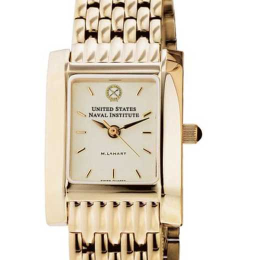 615789191698: USNI Women's Gold Quad Watch with Bracelet