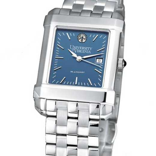 615789958772: UVA Men's Blue Quad Watch with Bracelet