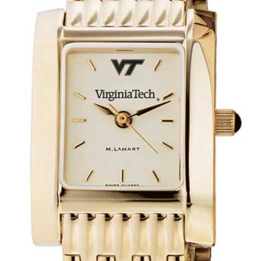 615789553571: Virginia Tech Women's Gold Quad Watch with Bracelet
