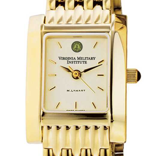 615789721970: VMI Women's Gold Quad Watch with Bracelet