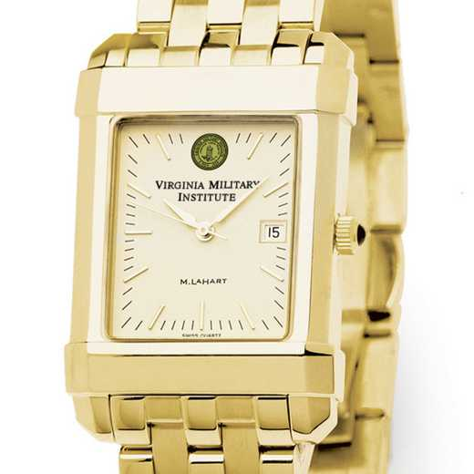 615789805182: VMI Men's Gold Quad Watch with Bracelet