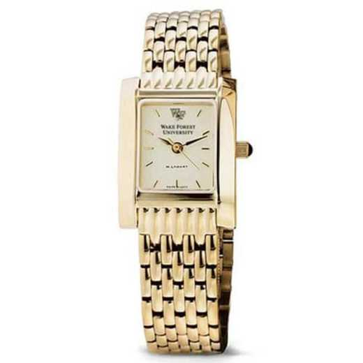 615789528890: Wake Forest Women's Gold Quad Watch with Bracelet