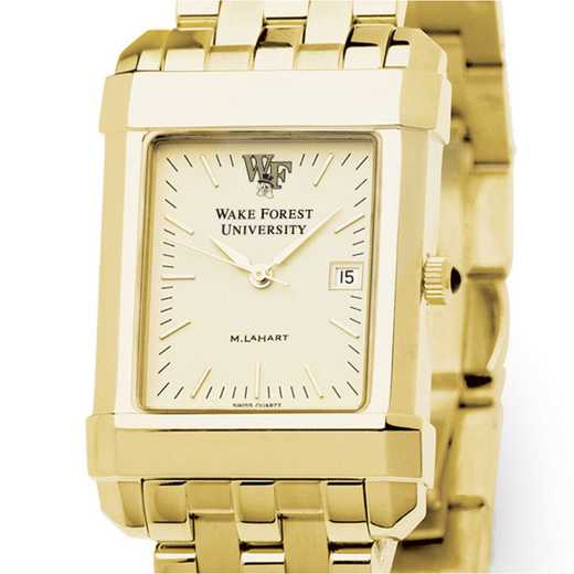 615789696162: Wake Forest Men's Gold Quad Watch with Bracelet