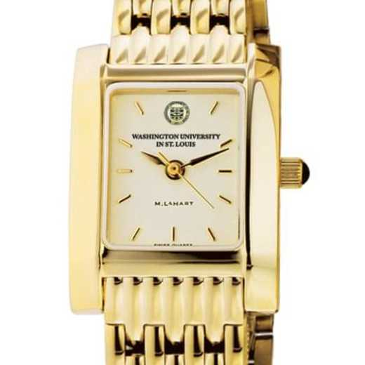615789491880: WUSTL Women's Gold Quad Watch with Bracelet