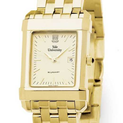 615789410423: Yale Men's Gold Quad Watch with Bracelet
