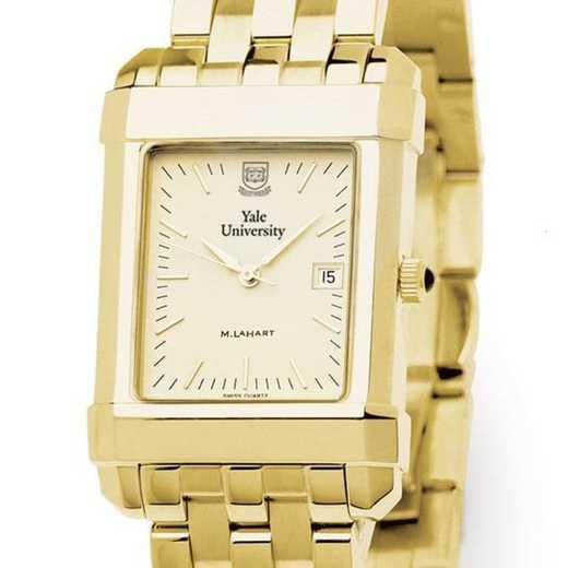 615789410423: Yale Men's Gold Quad Watch with Bracelet