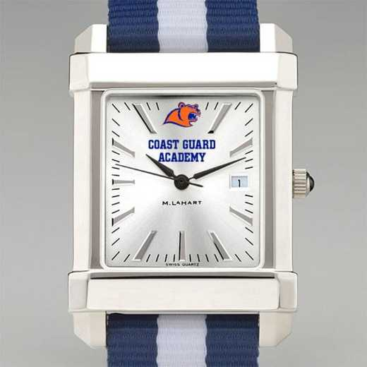 615789357896: US Coast Guard Academy Collegiate Watch W/NATO Strap