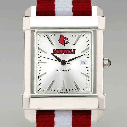 615789848431: Univ of Louisville Collegiate Watch W/NATO Strap for Men