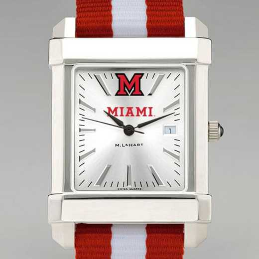 615789280774: Miami Univ Collegiate Watch W/NATO Strap for Men