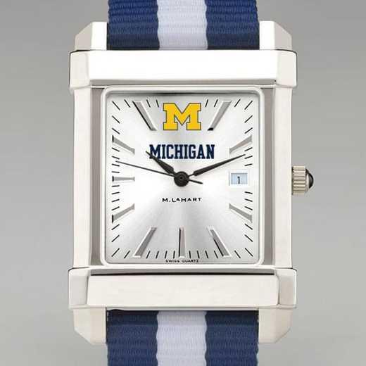 615789163787: Univ of Michigan Collegiate Watch W/NATO Strap for Men