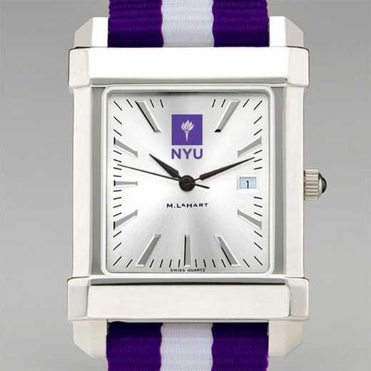 615789720256: New York Univ Collegiate Watch W/NATO Strap for Men