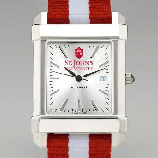615789014485: St. John's Univ Collegiate Watch W/NATO Strap for Men