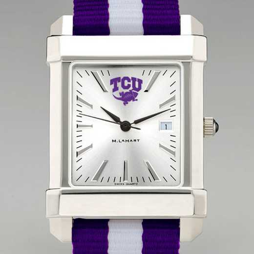 615789901051: Texas Christian Univ Collegiate Watch W/NATO Strap for Men