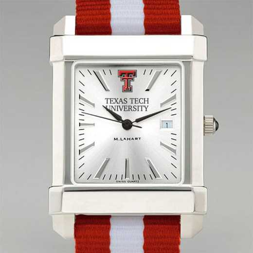 615789433392: Texas Tech Collegiate Watch W/NATO Strap for Men