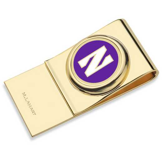 615789135319: Northwestern University Enamel Money Clip