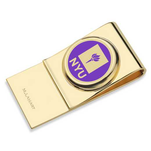 615789268369: New York University Enamel Money Clip