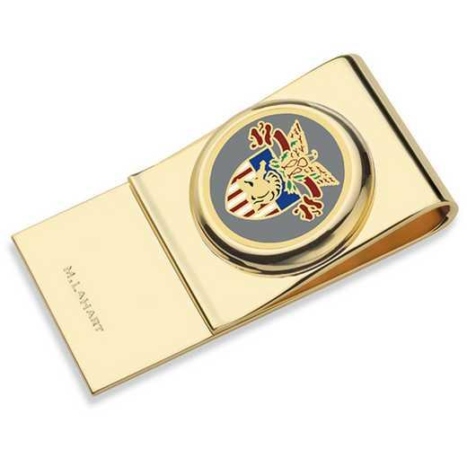 615789619123: US Military Academy Enamel Money Clip