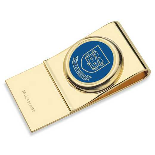 615789982852: Yale University Enamel Money Clip