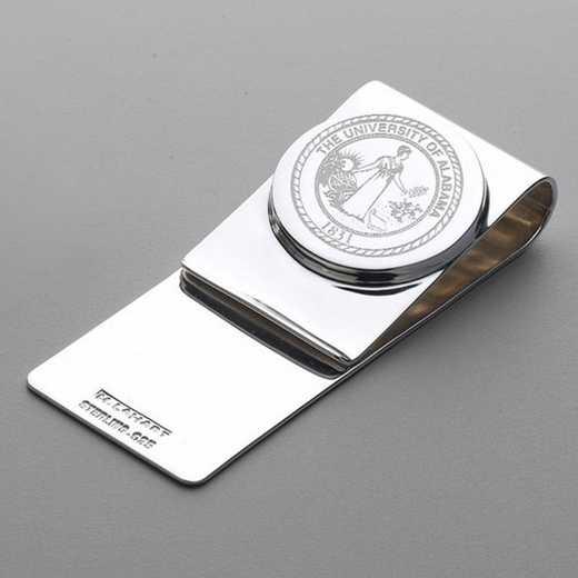 615789420804: Alabama Sterling Silver Money Clip