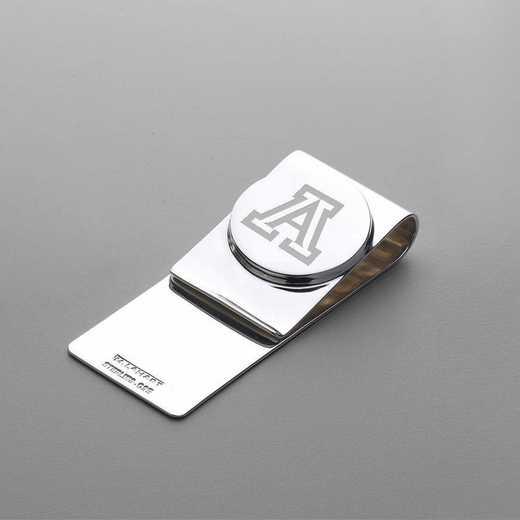 615789495406: University of Arizona Sterling Silver Money Clip