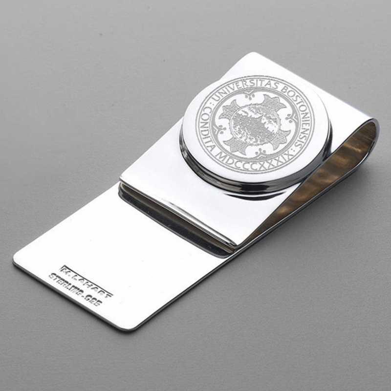 615789730361: Boston University Sterling Silver Money Clip
