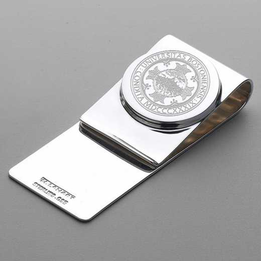 615789730361: Boston University Sterling Silver Money Clip