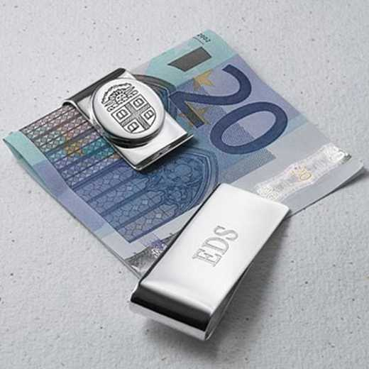 615789730071: Brown Sterling Silver Money Clip