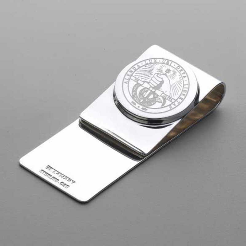 615789029809: Davidson College Sterling Silver Money Clip