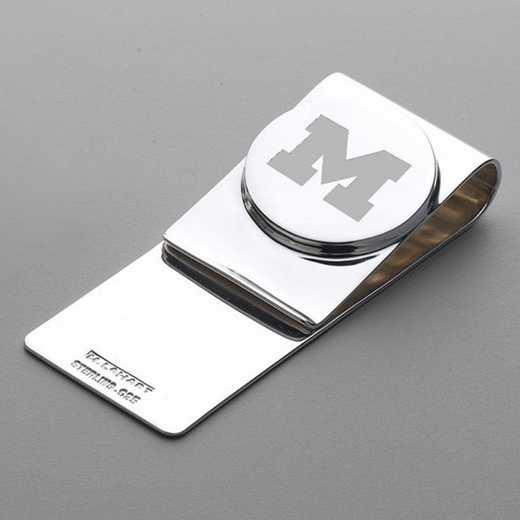 615789475668: Michigan Sterling Silver Money Clip