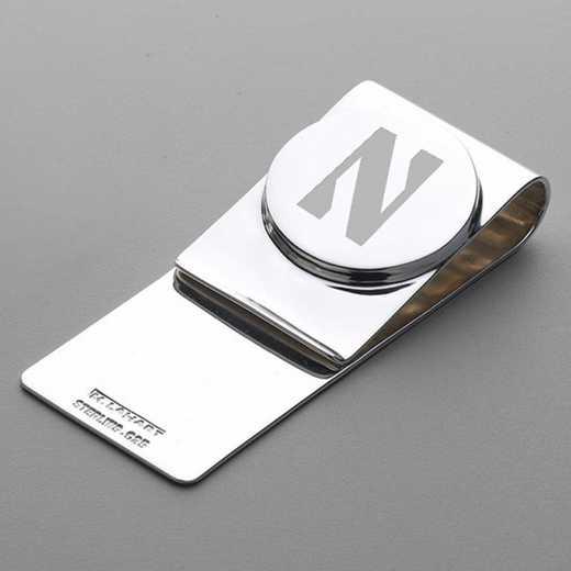 615789741183: Northwestern Sterling Silver Money Clip