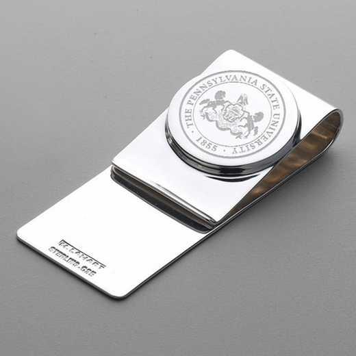 615789480266: Penn State Sterling Silver Money Clip