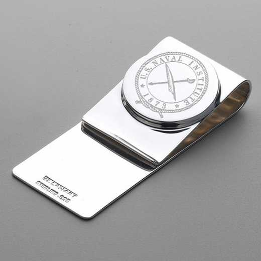 615789921424: USNI Sterling Silver Money Clip