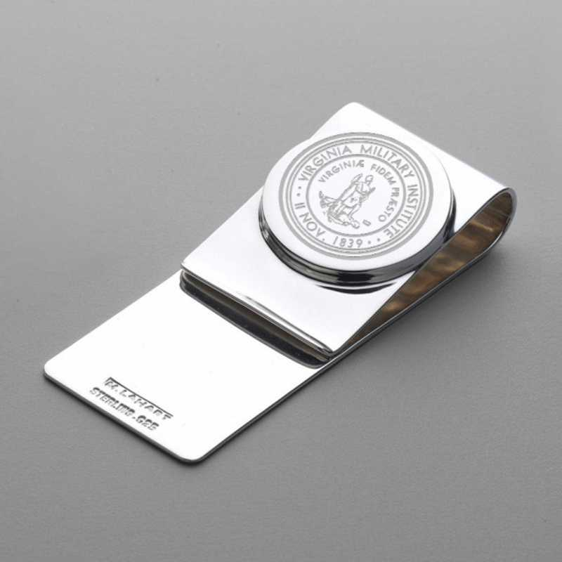 615789350019: Virginia Military Institute Sterling Silver Money Clip