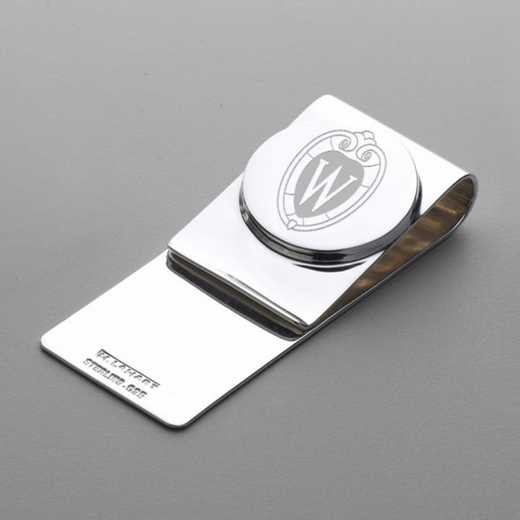 615789121176: Wisconsin Sterling Silver Money Clip