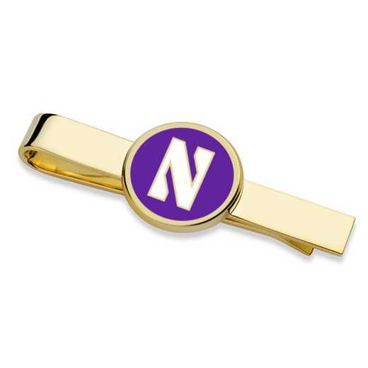 615789557562: Northwestern Tie Clip
