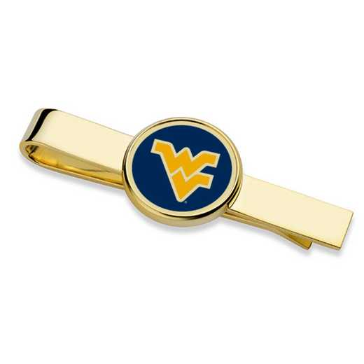 615789303343: West Virginia University Enamel Tie Clip