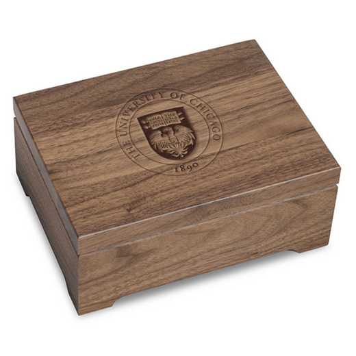 615789998785: University of Chicago Solid Walnut Desk Box