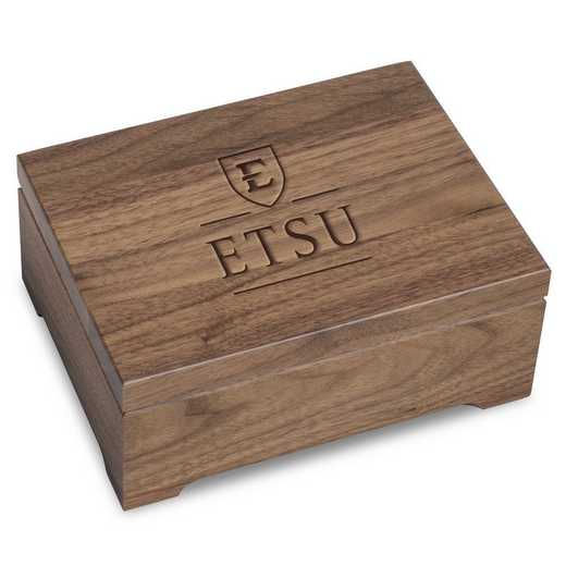 615789722281: East Tennessee State University Solid Walnut Desk Box