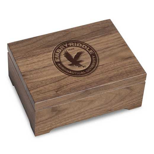615789085348: Embry-Riddle Solid Walnut Desk Box
