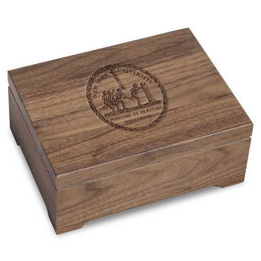 615789500209: New York University Solid Walnut Desk Box