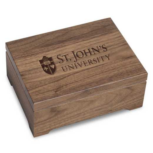 615789720911: St. John's University Solid Walnut Desk Box