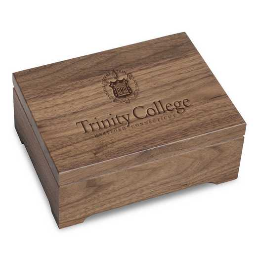 615789984740: Trinity College Solid Walnut Desk Box