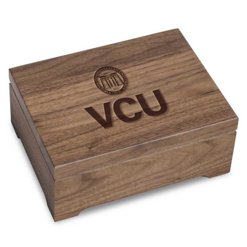 615789095835: Virginia Commonwealth University Solid Walnut Desk Box