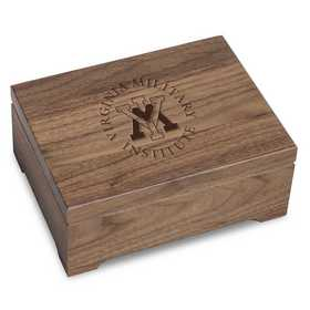 615789835561: Virginia Military Institute Solid Walnut Desk Box