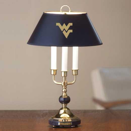 615789681007: West Virginia University Lamp in Brass & Marble