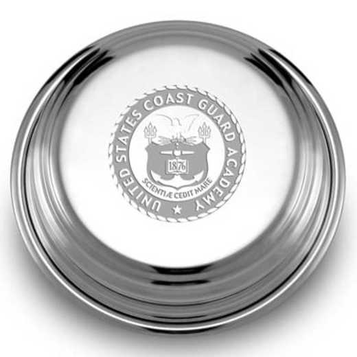 615789276821: Coast Guard Academy Pewter Paperweight