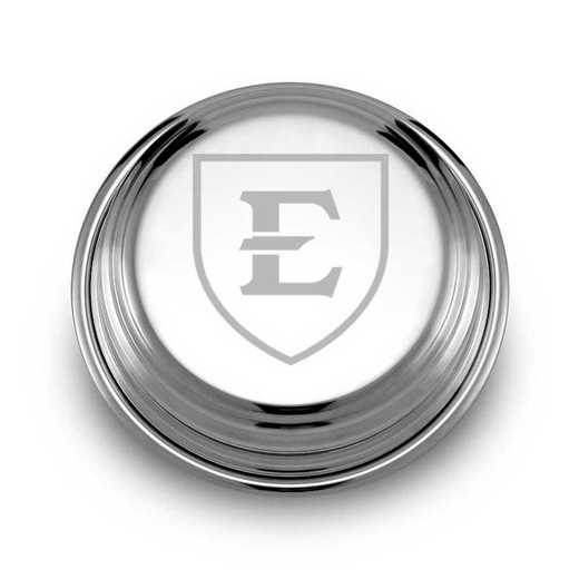 615789331148: East Tennessee State University Pewter Paperweight