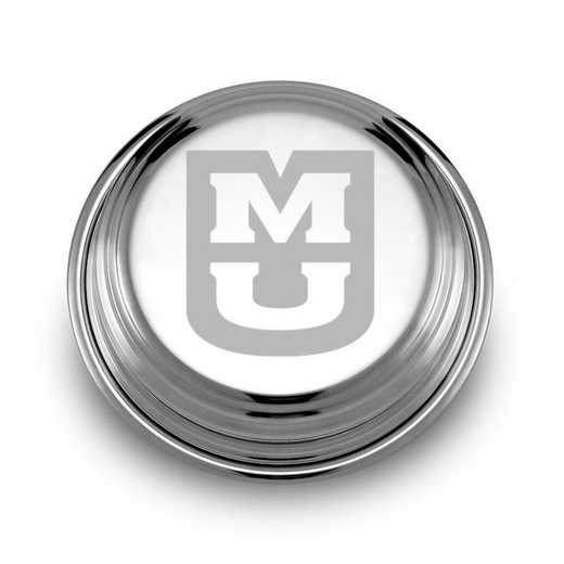 615789619574: University of Missouri Pewter Paperweight
