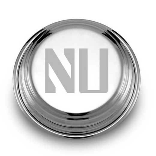 615789847205: Northwestern Pewter Paperweight