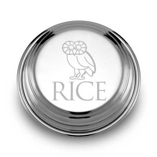 615789151524: Rice University Pewter Paperweight